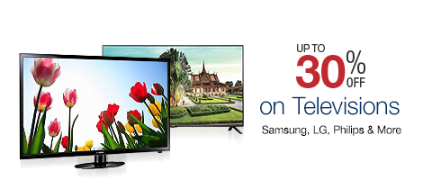 30% off on Televisions